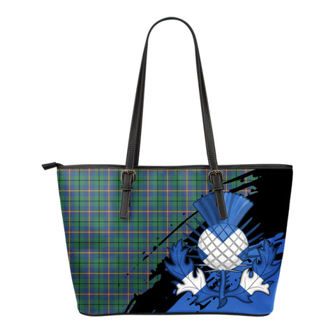 Carmichael Ancient Leather Tote Bag Small | Tartan Bags