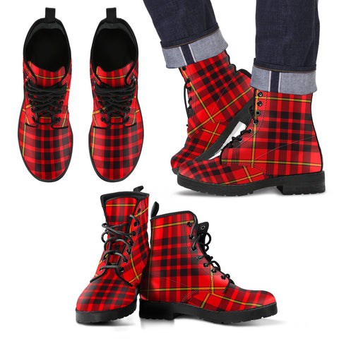 Image of MacIan Tartan Leather Boots Footwear Shoes