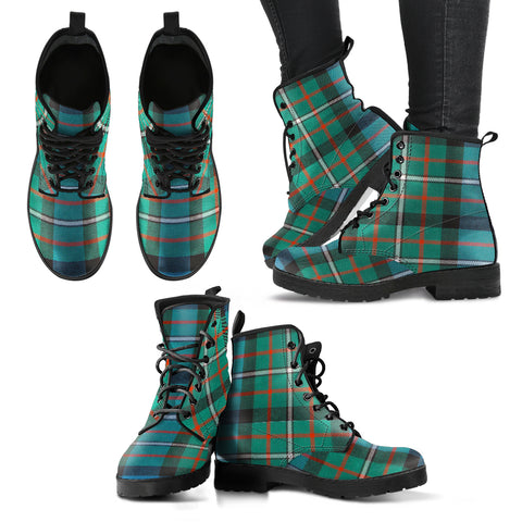 Ferguson Ancient Tartan Leather Boots A9