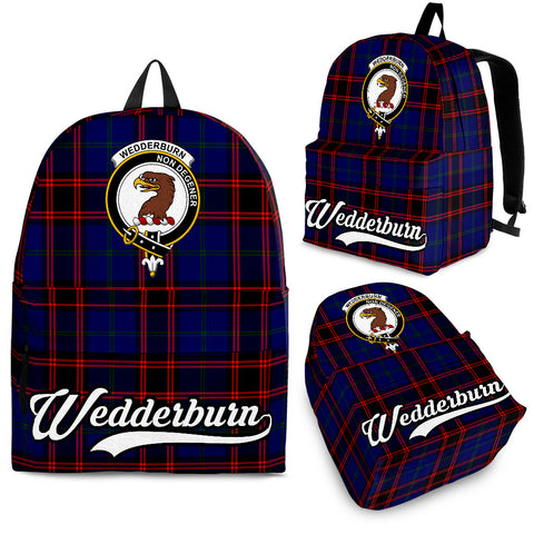 Wedderburn Tartan Clan Backpack | Scottish Bag | Adults Backpacks & Bags