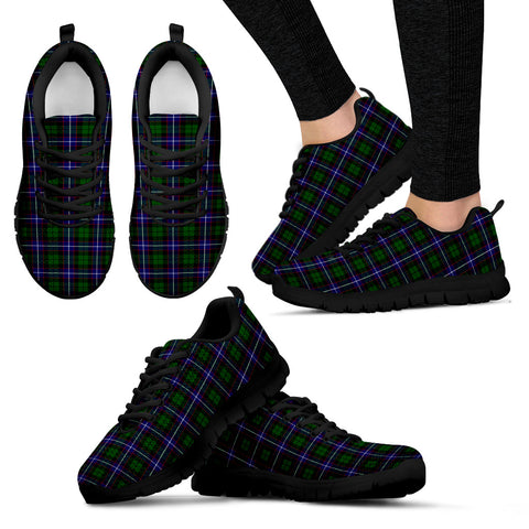 Russell Modern, Women's Sneakers, Tartan Sneakers, Clan Badge Tartan Sneakers, Shoes, Footwears, Scotland Shoes, Scottish Shoes, Clans Shoes