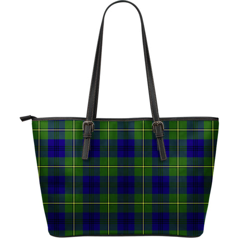 Johnston Modern Tartan Leather Tote Bag (Large) | Over 500 Tartans | Special Custom Design