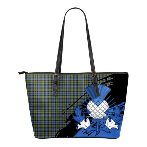 Campbell Faded Leather Tote Bag Small | Tartan Bags