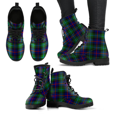 Campbell of Cawdor Modern  Tartan Leather Boots A9