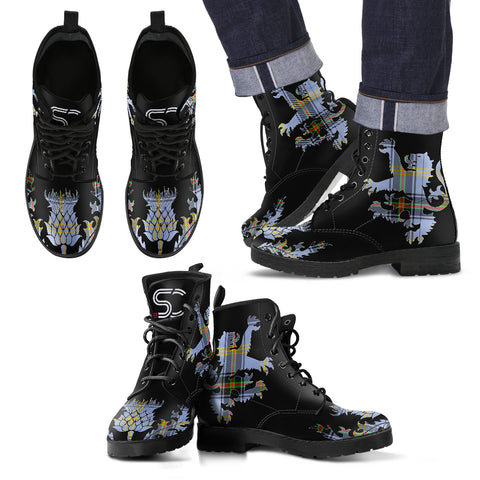 Bell of the Borders Tartan Leather Boots Lion And Thistle TH8