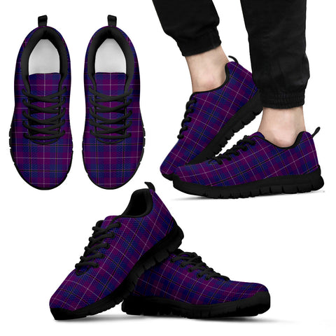 Pride of Glencoe, Men's Sneakers, Tartan Sneakers, Clan Badge Tartan Sneakers, Shoes, Footwears, Scotland Shoes, Scottish Shoes, Clans Shoes