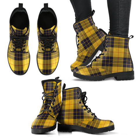 Image of MacLeod of Lewis Ancient Tartan Leather Boots A9