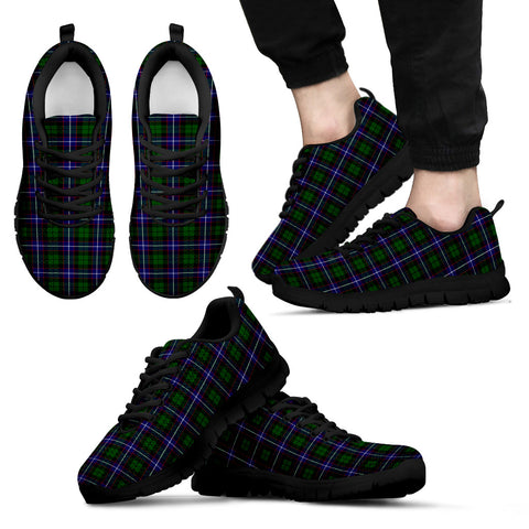 Image of Russell Modern, Men's Sneakers, Tartan Sneakers, Clan Badge Tartan Sneakers, Shoes, Footwears, Scotland Shoes, Scottish Shoes, Clans Shoes