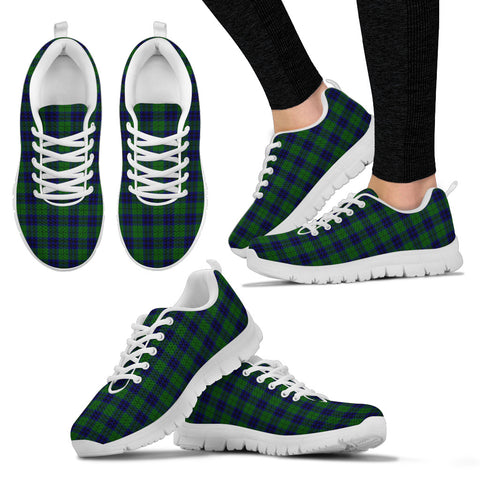 Keith Modern, Women's Sneakers, Tartan Sneakers, Clan Badge Tartan Sneakers, Shoes, Footwears, Scotland Shoes, Scottish Shoes, Clans Shoes