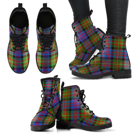 Carnegie Ancient  Tartan Leather Boots A9