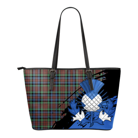MacDuff Hunting Ancient  Leather Tote Bag Small | Tartan Bags