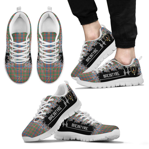 Image of MacIntyre Ancient Tartan Heartbeat Sneakers | scottishclans.co