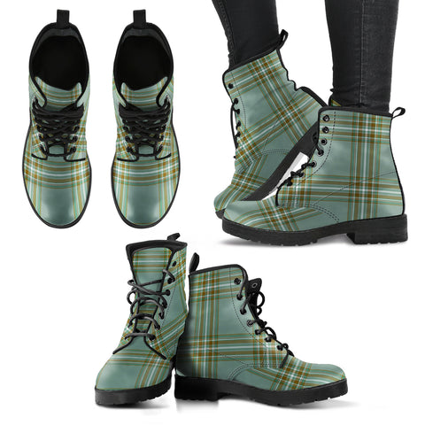 Kelly Dress Tartan Leather Boots