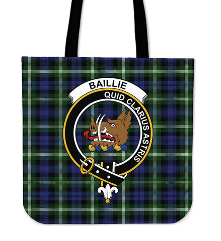 Tartan Tote Bag - Baillie Modern Clan Badge | Special Custom Design