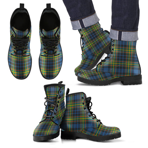 MacLellan Ancient Tartan Leather Boots Footwear Shoes