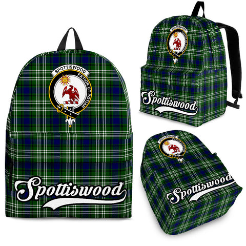 Image of Spottiswood Tartan Clan Backpack | Scottish Bag | Adults Backpacks & Bags