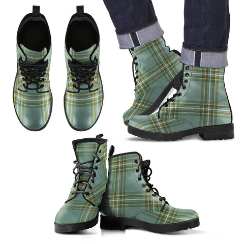 Image of Kelly Dress Tartan Leather Boots Footwear Shoes