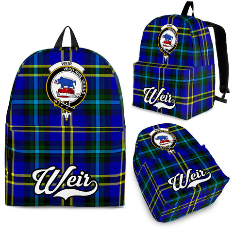 Image of Weir Tartan Clan Backpack | Scottish Bag | Adults Backpacks & Bags