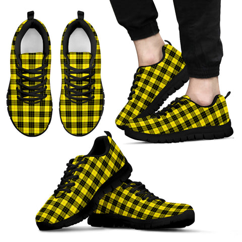 Image of MacLeod of Lewis Modern, Men's Sneakers, Tartan Sneakers, Clan Badge Tartan Sneakers, Shoes, Footwears, Scotland Shoes, Scottish Shoes, Clans Shoes