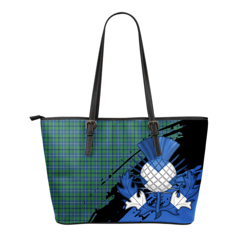 Douglas Ancient Leather Tote Bag Small | Tartan Bags