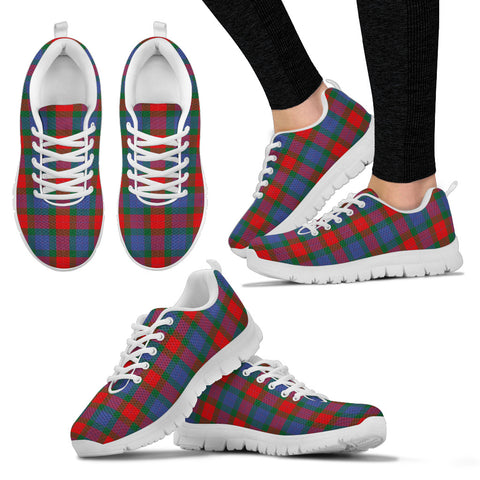 Image of Mar, Women's Sneakers, Tartan Sneakers, Clan Badge Tartan Sneakers, Shoes, Footwears, Scotland Shoes, Scottish Shoes, Clans Shoes