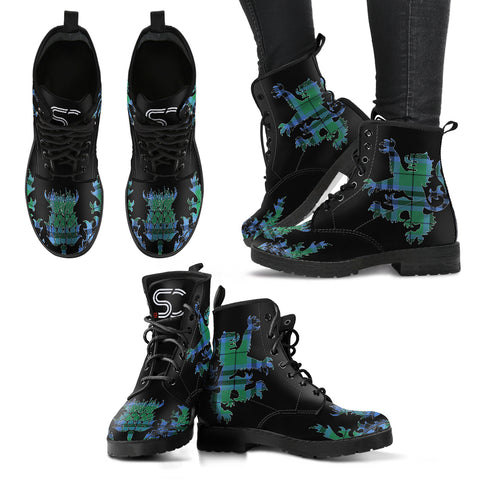 Keith Ancient Tartan Leather Boots Lion And Thistle