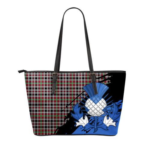 Borthwick Ancient Leather Tote Bag Small | Tartan Bags