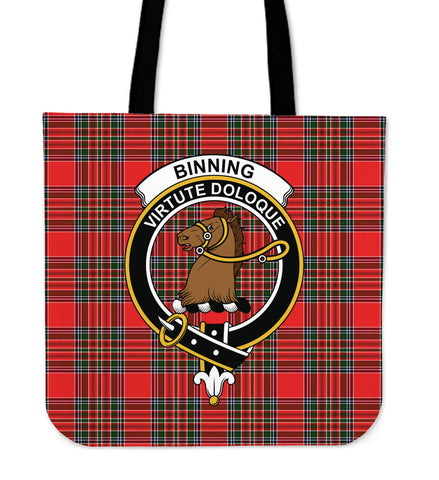 Tartan Tote Bag - Binning Clan Badge | Special Custom Design