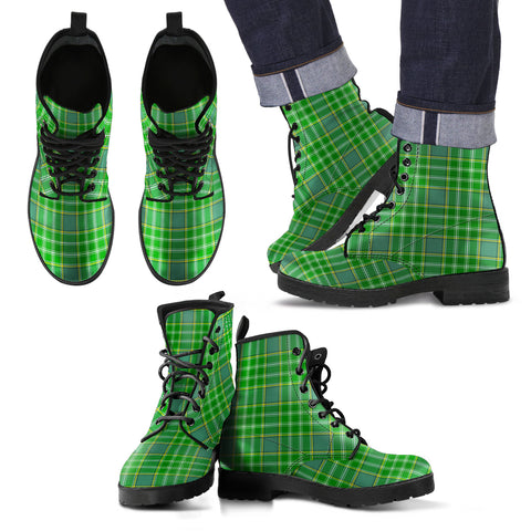 Image of Currie Tartan Leather Boots Footwear Shoes