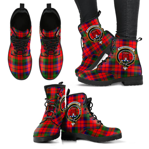Image of Tartan MacNaughton Modern Leather Boots Footwear Shoes