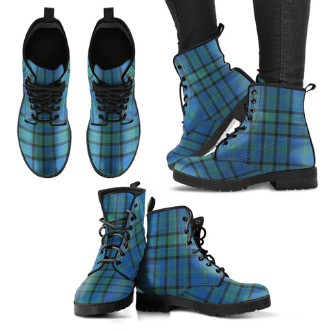 Matheson Hunting Ancient Tartan Leather Boots