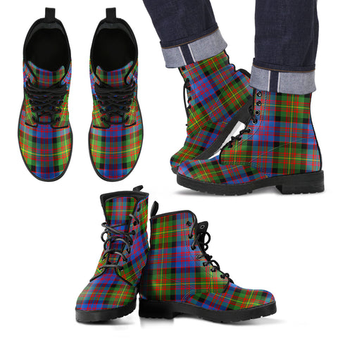 Carnegie Ancient  Tartan Leather Boots Footwear Shoes