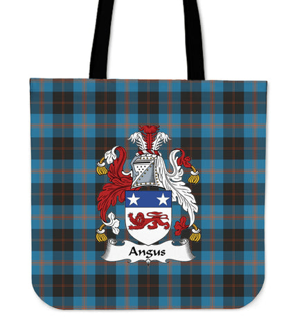 Tartan Tote Bag - Angus Ancient Clan Badge | Special Custom Design