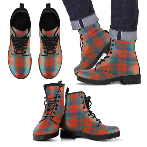 Robertson Ancient Tartan Leather Boots Footwear Shoes