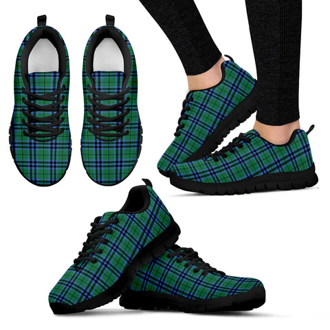 Image of Keith Ancient, Women's Sneakers, Tartan Sneakers, Clan Badge Tartan Sneakers, Shoes, Footwears, Scotland Shoes, Scottish Shoes, Clans Shoes