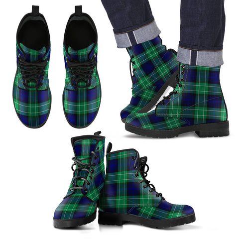 Image of Abercrombie Tartan Leather Boots Footwear Shoes