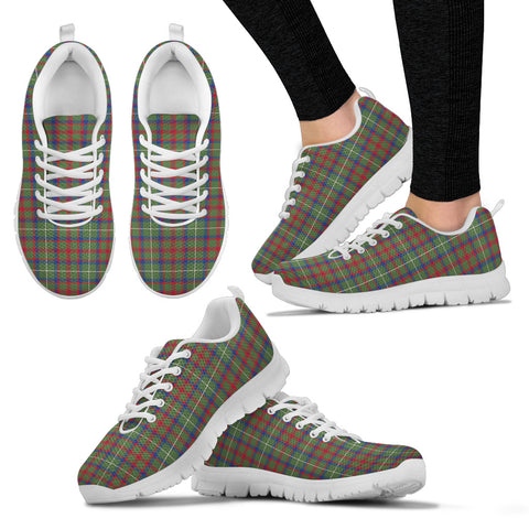 Shaw Green Modern, Women's Sneakers, Tartan Sneakers, Clan Badge Tartan Sneakers, Shoes, Footwears, Scotland Shoes, Scottish Shoes, Clans Shoes