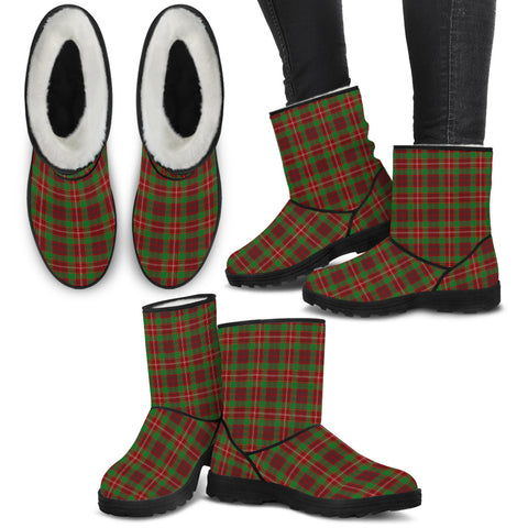 Ainslie Tartan Faux Fur Boots Shoes Footwear
