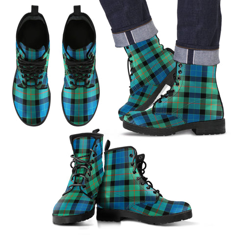 Image of Gunn Ancient Tartan Leather Boots Footwear Shoes