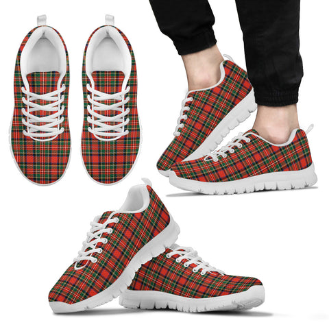 Stewart Royal Modern, Men's Sneakers, Tartan Sneakers, Clan Badge Tartan Sneakers, Shoes, Footwears, Scotland Shoes, Scottish Shoes, Clans Shoes