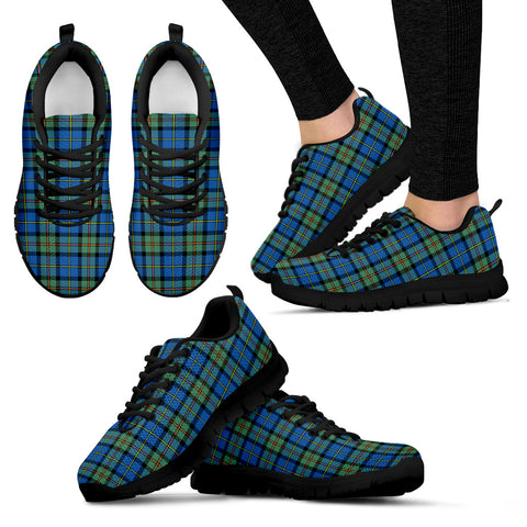 MacLeod of Harris Ancient, Women's Sneakers, Tartan Sneakers, Clan Badge Tartan Sneakers, Shoes, Footwears, Scotland Shoes, Scottish Shoes, Clans Shoes
