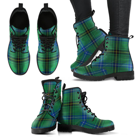 Henderson Ancient Tartan Leather Boots A9