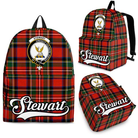 Image of Stewart (High Stewards) Tartan Clan Backpack | Scottish Bag | Adults Backpacks & Bags