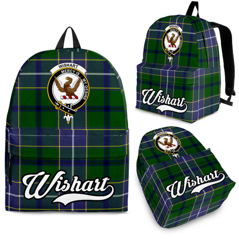 Image of Wishart Tartan Clan Backpack | Scottish Bag | Adults Backpacks & Bags