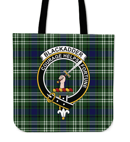 Tartan Tote Bag - Blackadder Clan Badge | Special Custom Design