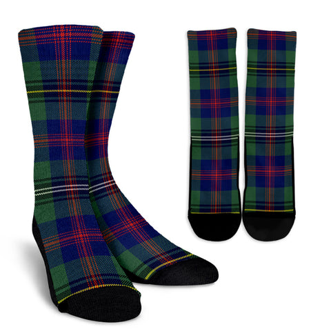 Wood Modern clans, Tartan Crew Socks, Tartan Socks, Scotland socks, scottish socks, christmas socks, xmas socks, gift socks, clan socks