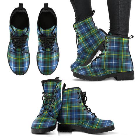 MacNeill of Barra Ancient Tartan Leather Boots A9