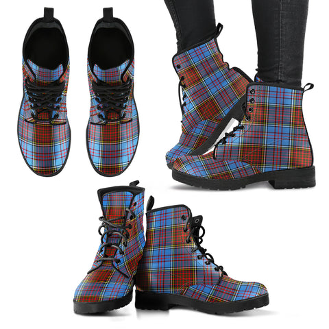 Anderson Modern Tartan Leather Boots A9
