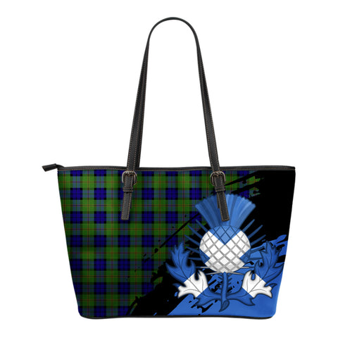 Dundas Modern Leather Tote Bag Small | Tartan Bags