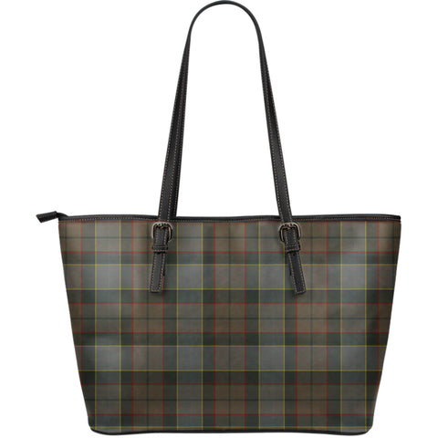 Image of Outlander Fraser Tartan Leather Tote Bag (Large) | Over 500 Tartans | Special Custom Design